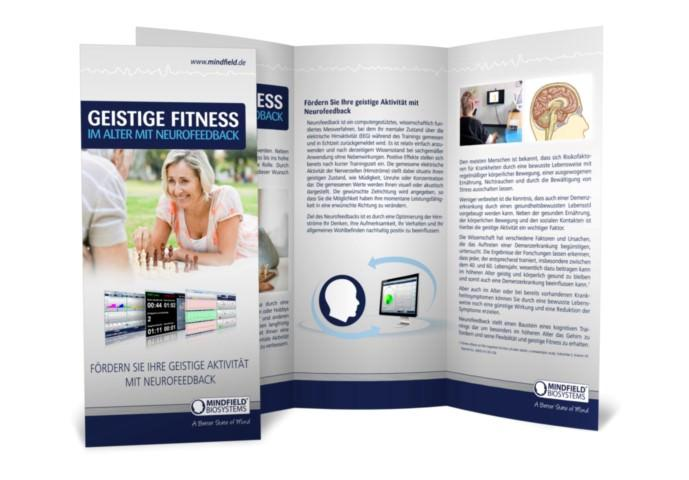 "Flyer ""Neurofeedback & Geistige Fitness im Alter"