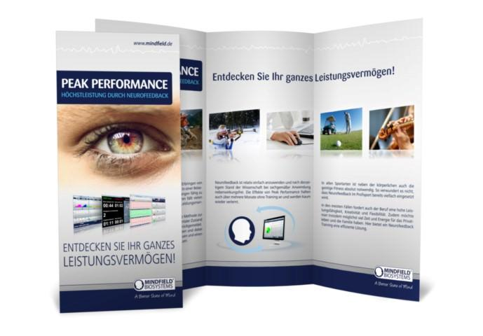 "Flyer ""Neurofeedback & Peak Performance"