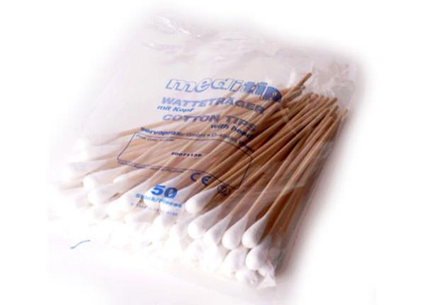 Cotton Swabs for Application of Gel or Paste
